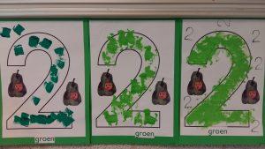 cijfer-2-en-kleur-groen